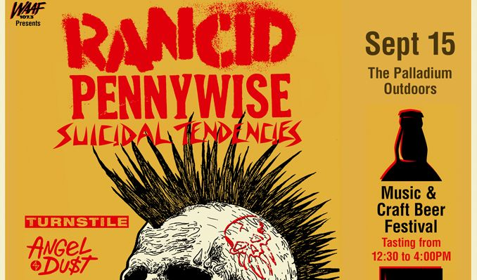 Rancid with special guest Pennywise tickets at The Palladium Outdoors in Worcester