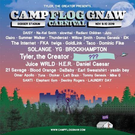 Camp Flog Gnaw Carnival 2019 lineup announced; Tyler, Solange, YG, Brockhampton & more