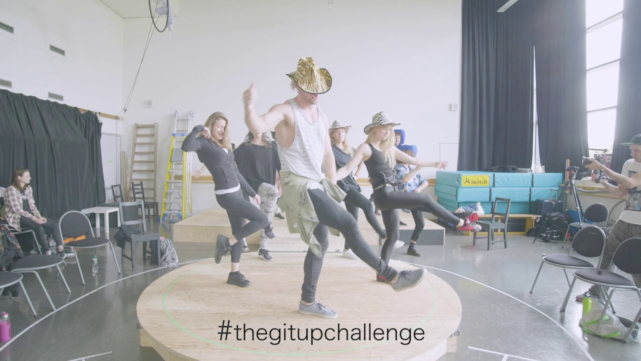 Cast of ATOMIC SALOON SHOW take part in the #GitUpChallenge