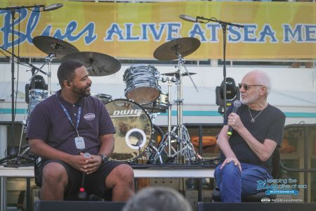 Peter Frampton answers fan questions on the Keeping the Blues Alive at Sea: Mediterranean cruise.
