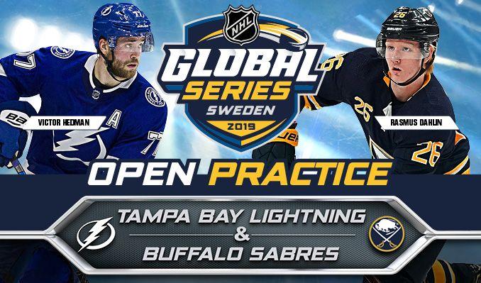 Open Practice 2019 NHL Global Series: Tampa Bay Lightning & Buffalo Sabres tickets at ERICSSON GLOBE/Stockholm Live in Stockholm