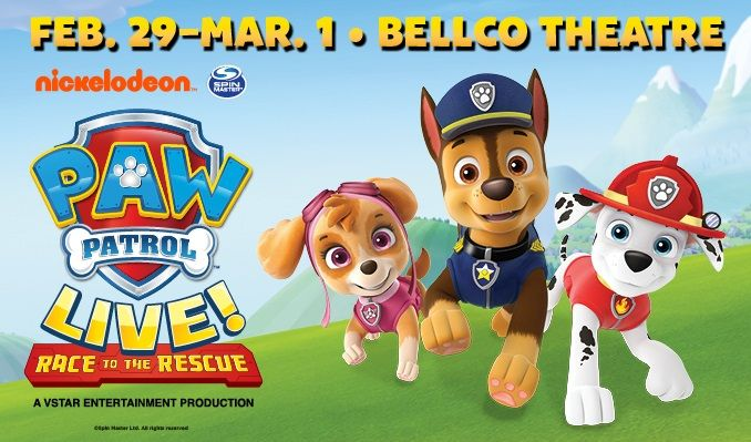 PAW Patrol Live!: Race to the Rescue tickets at Bellco Theatre in Denver