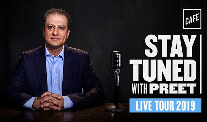 Stay Tuned with Preet Bharara tickets at Newman Center - Gates Concert Hall in Denver