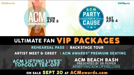2020 ACM Awards & ACM Party for a Cause announce Ultimate Fan VIP Packages