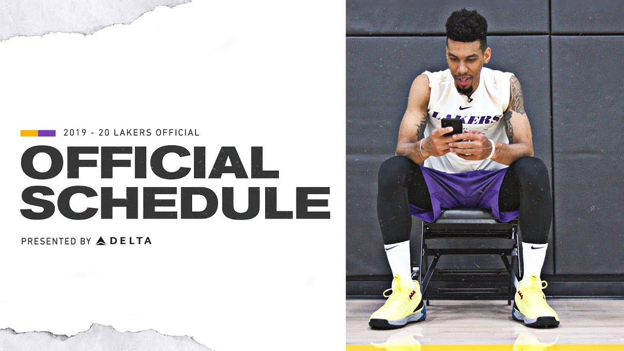 It's just a graphic of Unforgettable Lakers Schedule 2020-18 Printable