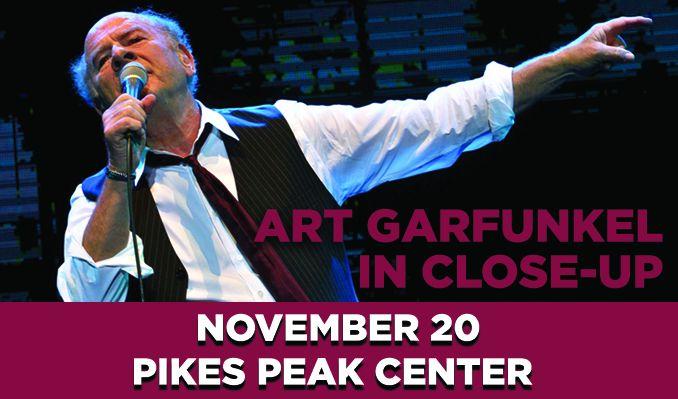 Art Garfunkel In Close-Up tickets at Pikes Peak Center in Colorado Springs