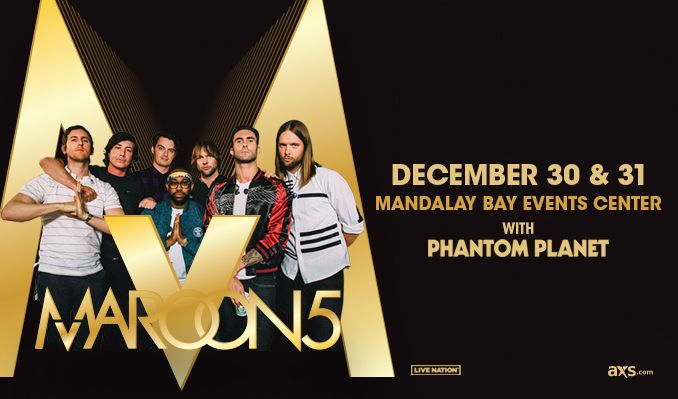 Maroon 5 tickets at Mandalay Bay Events Center in Las Vegas