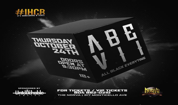 The 7th Annual ABE (All Black Everything) tickets at The NorVa in Norfolk