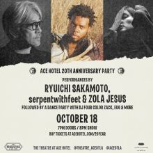 Ace 20 Year Celebration tickets at The Theatre at Ace Hotel in Los Angeles