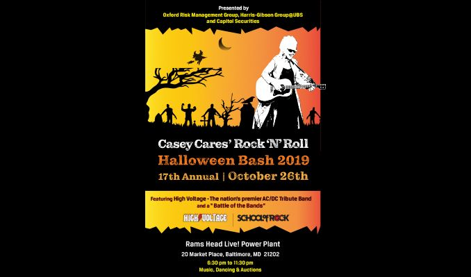 Casey Cares 17th Annual Rock 'N' Roll Halloween Bash tickets at Rams Head Live! in Baltimore