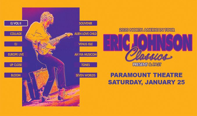 Eric Johnson Classics: Present and Past  tickets at Paramount Theatre in Denver