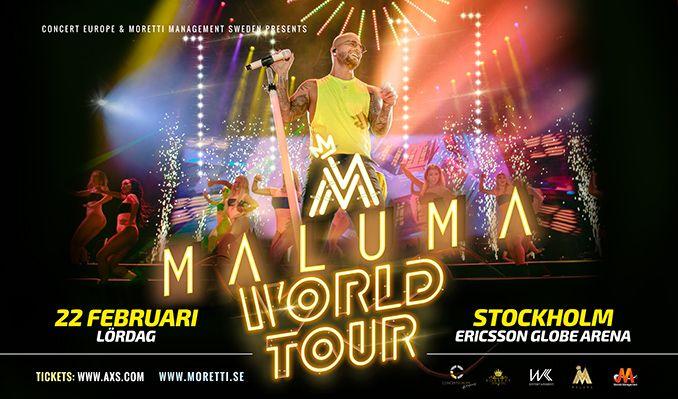 Maluma 11:11 World Tour tickets at ERICSSON GLOBE/Stockholm Live in Stockholm