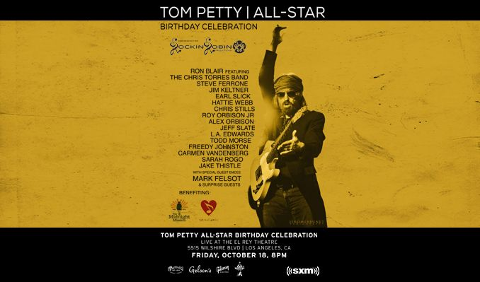 Tom Petty All-Star Birthday Event tickets at El Rey Theatre in Los Angeles