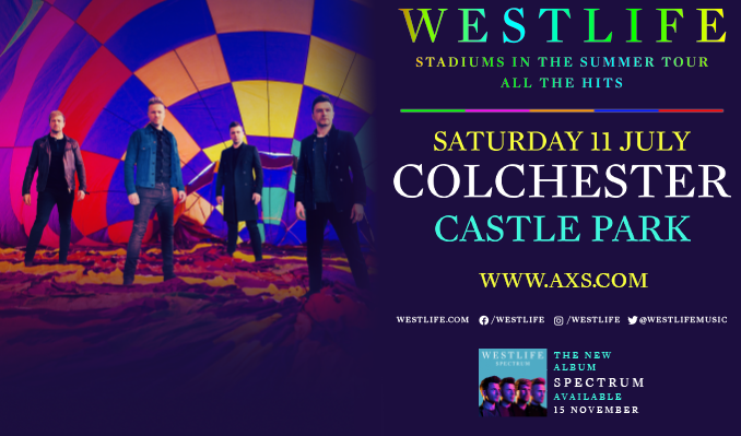 Westlife tickets at Colchester Castle Park in Colchester