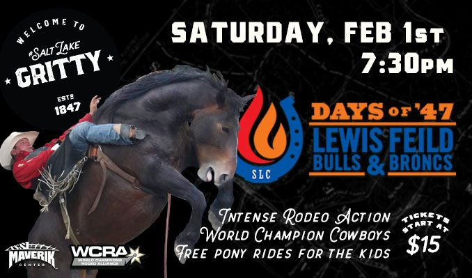 Days of '47 Lewis Feild Bulls & Broncs tickets at Maverik Center in Salt Lake City