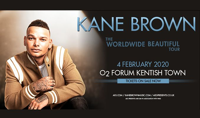 Kane Brown Tour 2020.Kane Brown Tickets In London At O2 Forum Kentish Town On Tue