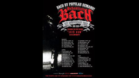 Sebastian Bach announces 2020 tour dates for 31st Anniversary of 'Skid Row'