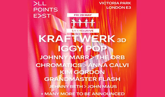 Kraftwerk 3D tickets at Victoria Park in London