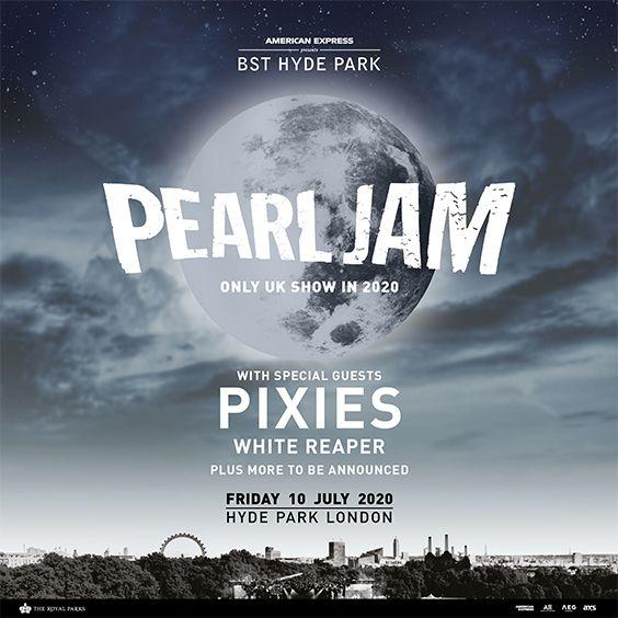 Pearl Jam 2020 Tour.Aeg Presents Pearl Jam