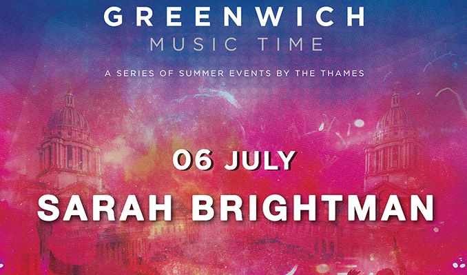 Sarah Brightman tickets at Old Royal Naval College in London