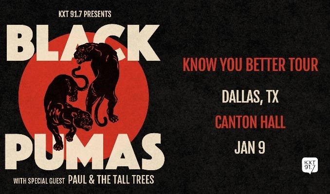 Black Pumas tickets at Canton Hall in Dallas