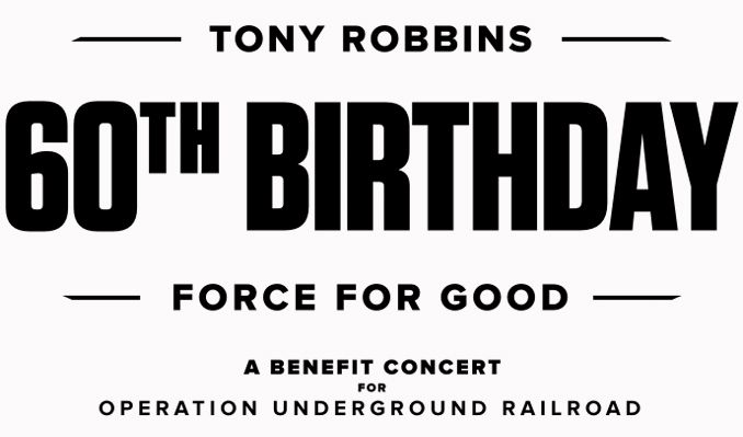 Tony Robbins' 60th Birthday tickets at Microsoft Theater in Los Angeles