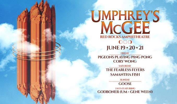 Umphrey's McGee 6/19 tickets at Red Rocks Amphitheatre in Morrison