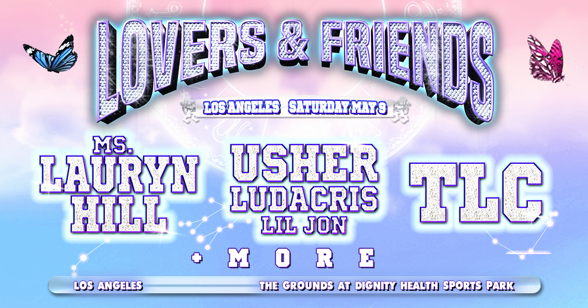 Main image for event titled Lovers and Friends Festival: feat. Ms. Lauryn Hill, Usher and more