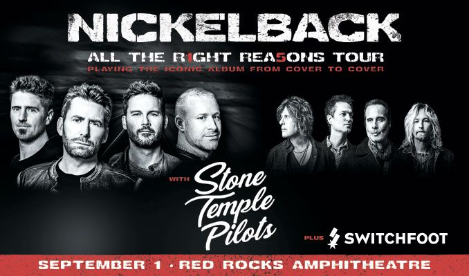 Nickelback tickets at Red Rocks Amphitheatre in Morrison