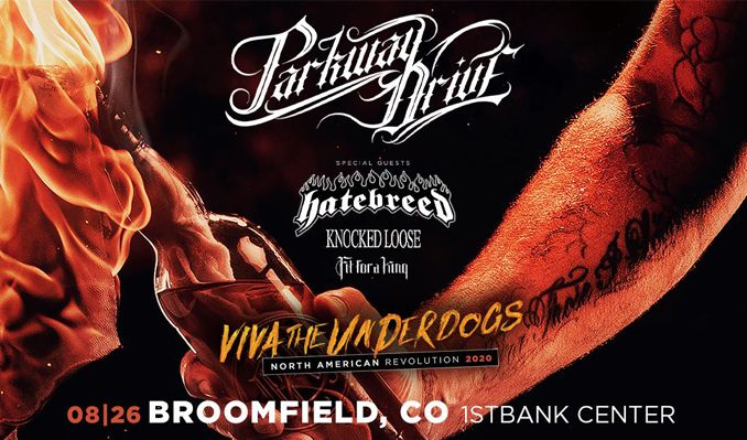 Parkway Drive tickets at 1STBANK Center in Broomfield