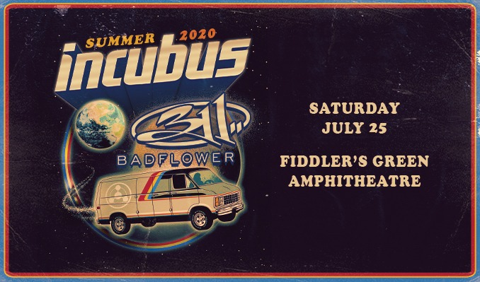 Incubus with 311 tickets at Fiddler's Green Amphitheatre in Greenwood Village