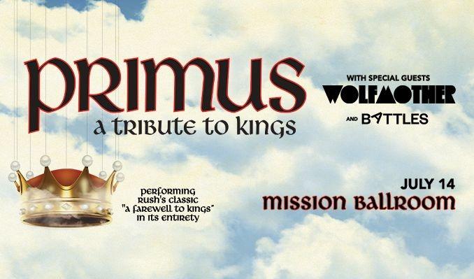 Primus tickets at Mission Ballroom in Denver