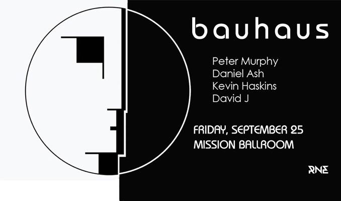 Bauhaus: Peter Murphy, Daniel Ash, Kevin Haskins, David J tickets at Mission Ballroom in Denver