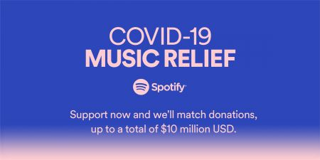 Spotify announces COVID-19 Music Relief project to help artists