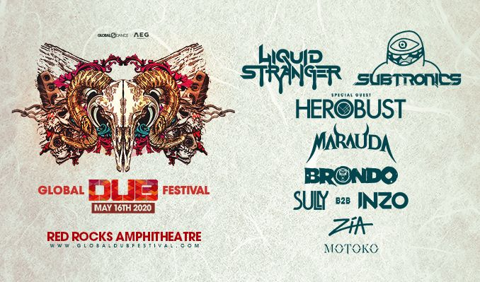 Global Dub Festival: Liquid Stranger, Subtronics tickets at Red Rocks Amphitheatre in Morrison