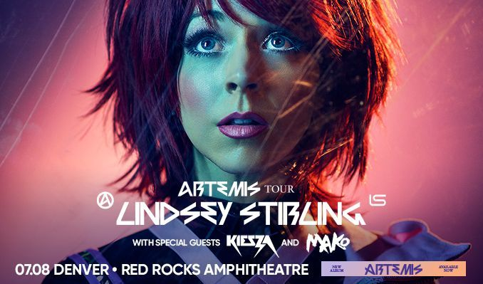 Lindsey Stirling – Artemis Tour tickets at Red Rocks Amphitheatre in Morrison
