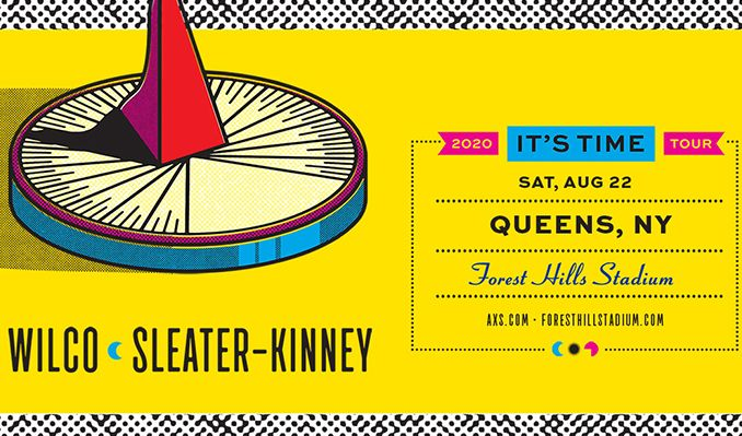 Wilco and Sleater‐Kinney tickets at Forest Hills Stadium in Queens