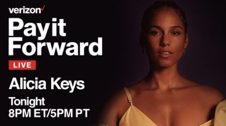 AXS TV to air Alicia Keys' charity livestream 'Pay It Forward' tonight April 9