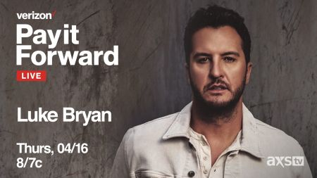 AXS TV to air Verizon's 'PayItForwardLive' starring Luke Bryan tonight April 16