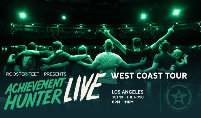 Achievement Hunter Live tickets at The Novo in Los Angeles