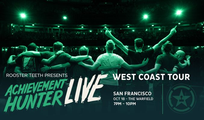 Achievement Hunter Live tickets at The Warfield in San Francisco