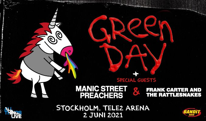 Green Day - NYTT DATUM tickets at TELE2 ARENA/Stockholm Live in Stockholm