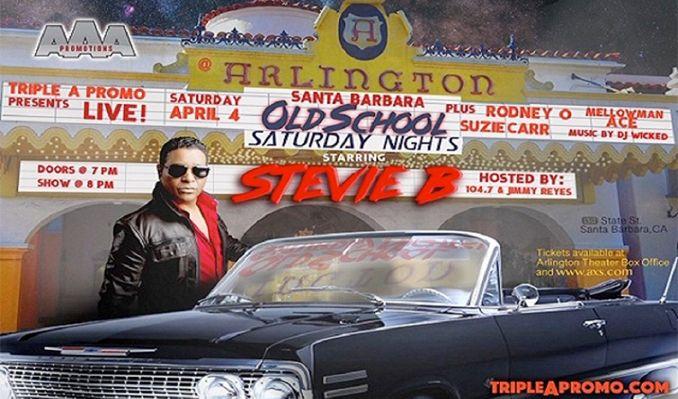 Santa Barbara Old School Saturday Night's/ Stevie B tickets at Arlington Theatre in Santa Barbara