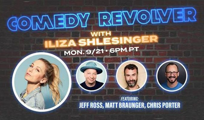 Comedy Revolver with Iliza Shlesinger tickets at Livestream Event in coming to you from a virtual setting